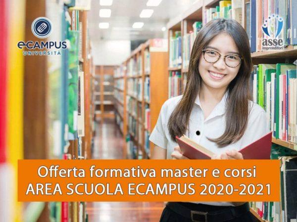 Offerta formativa master e corsi AREA SCUOLA ECAMPUS 2020-2021. Certificazioni C2, Eipass, Dattilografia, ecc.
